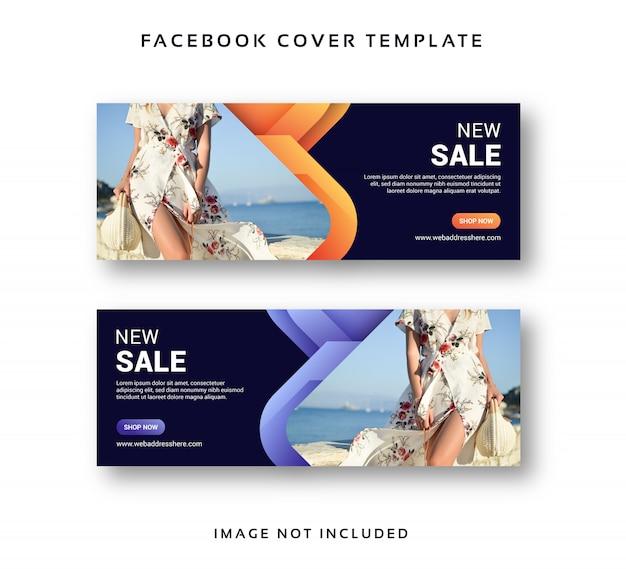 Compras venta banner facebook portada plantilla abstracta