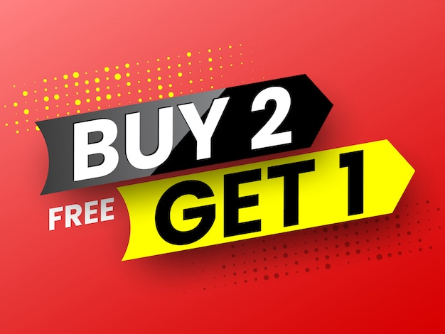 Compre 2, obtenga 1 banner de venta gratis.