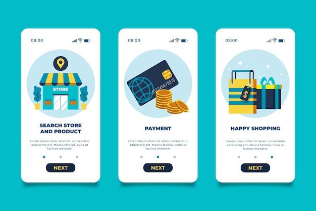 Compre la interfaz de la aplicación en línea