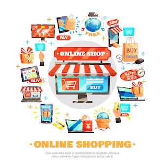 Compre en línea composición redonda