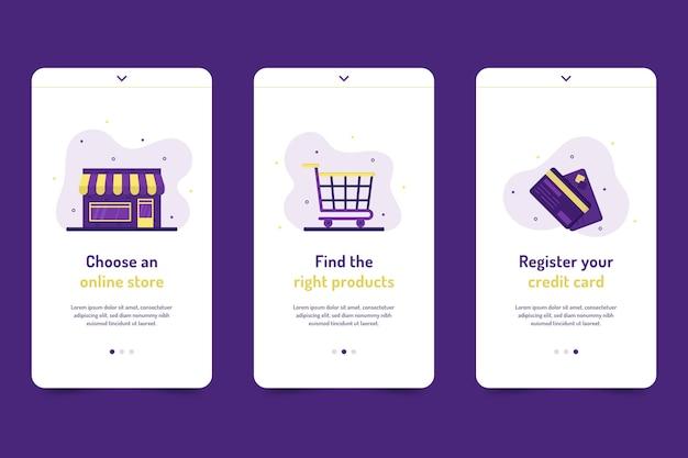 Compre en línea el conjunto de pantallas de la aplicación de incorporación