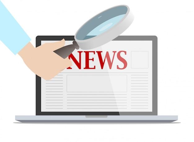 Comprobación del concepto de noticias falsas.