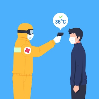 Comprobación de la temperatura corporal
