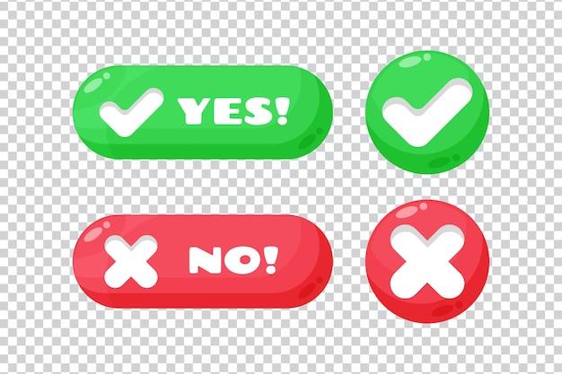 Compruebe y cruce el botón sobre fondo blanco.