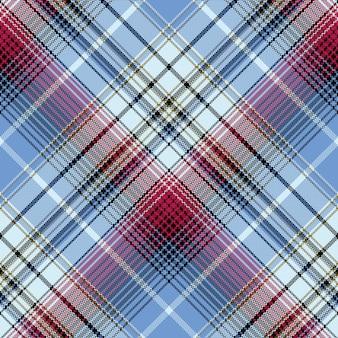 Compruebe el patrón sin fisuras de la textura textil a cuadros de píxeles