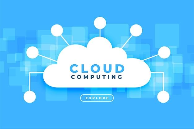 Computación en la nube con puntos de red