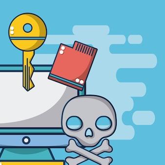 Computadora con procesador y clave