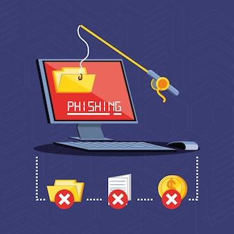 Computadora de escritorio ciberseguridad