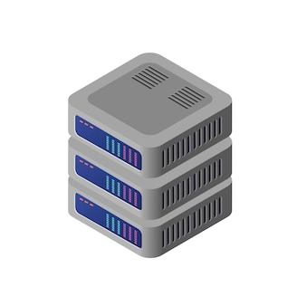 Computadora isometrica 3d