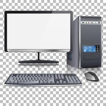 Computadora moderna altamente detallada