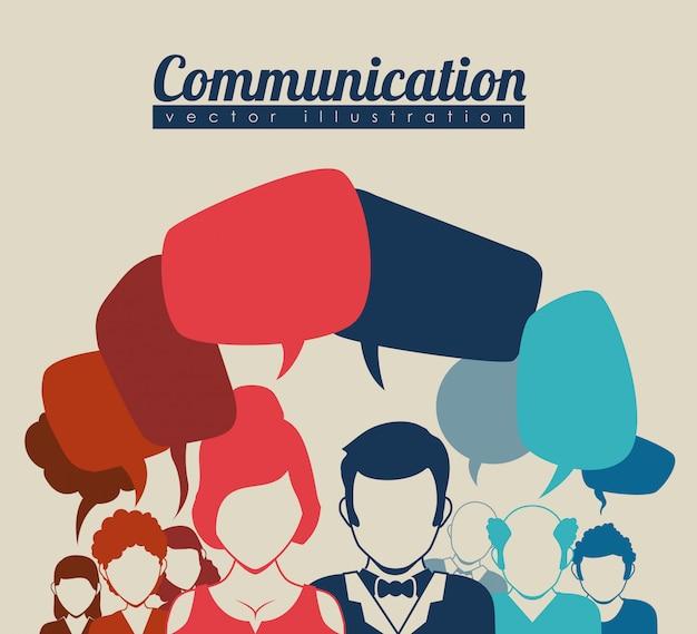 Comunicación de burbujas de discurso