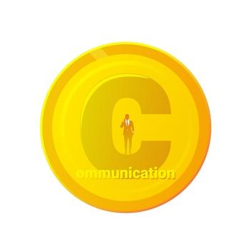 Comunicacion carta de oro aislada
