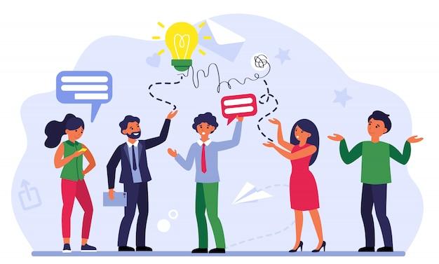 Comunicación del equipo de negocios