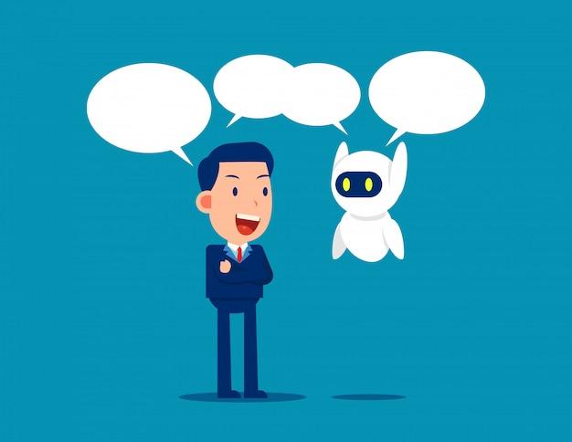 Comunicación humana y robot
