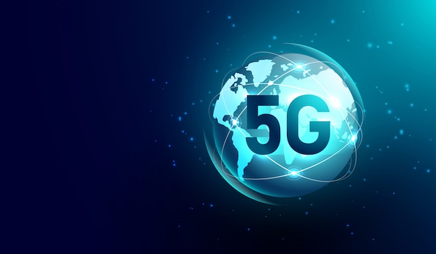 Comunicación en internet 5g y red inalámbrica global.
