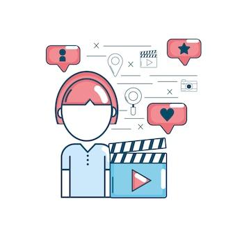 Comunicación de tecnología de conexión a redes sociales