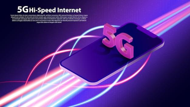 Comunicación de tecnología de red inalámbrica 5g