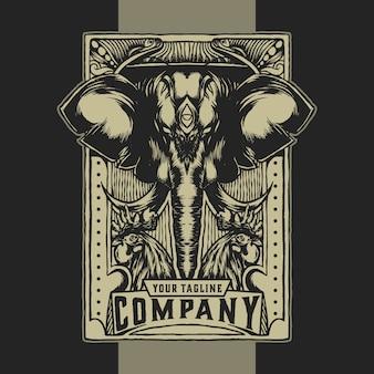 Comunidad de elefantes vintage