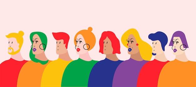 La comunidad gay queer lgbtq ilustración