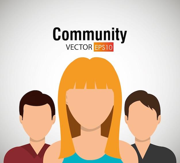 Comunidad y gráfico de personas