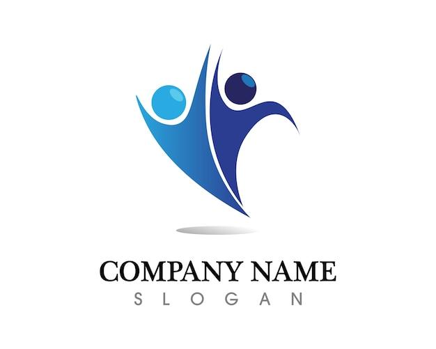 Comunidad personas cuidado logotipo y símbolos plantilla vector