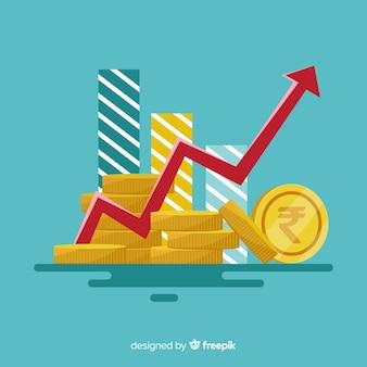 Concept de inversión de rupias indias