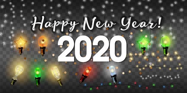 Concepto 2020 de feliz año nuevo.