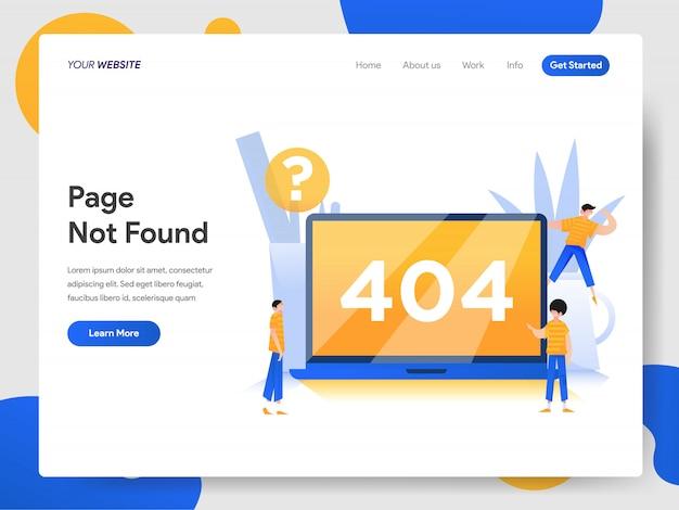 Concepto de 404 páginas no encontradas