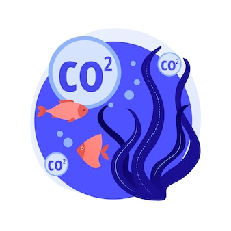 Concepto abstracto de acidificación del océano
