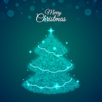 Concepto abstracto del árbol de navidad