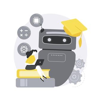 Concepto abstracto de autoaprendizaje de chatbot