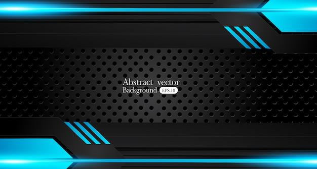 Concepto abstracto azul metálico abstracto de la innovación del diseño del marco