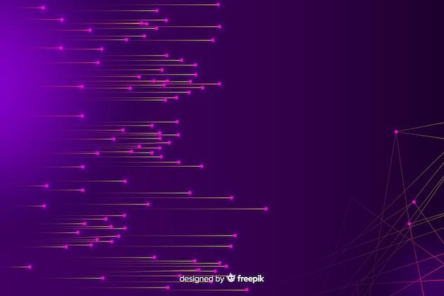 Concepto abstracto de big data en fondo de estilo futurista