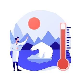 Concepto abstracto de cambio climático