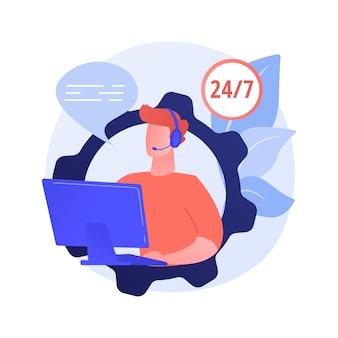 Concepto abstracto de centro de llamadas