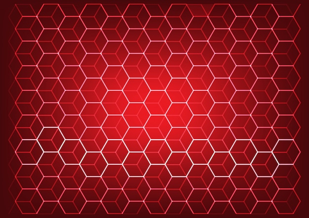 Concepto abstracto de ciencia y tecnología con fondo de elementos hexagonales