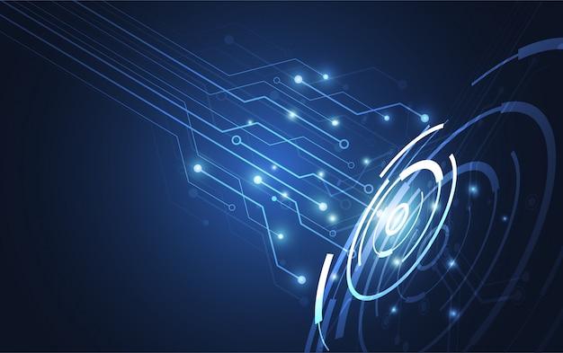 Concepto abstracto de la comunicación de la innovación de la tecnología