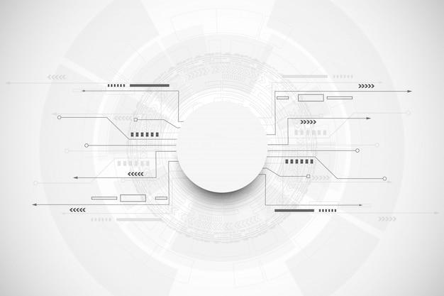 Concepto abstracto de la comunicación de la tecnología del fondo