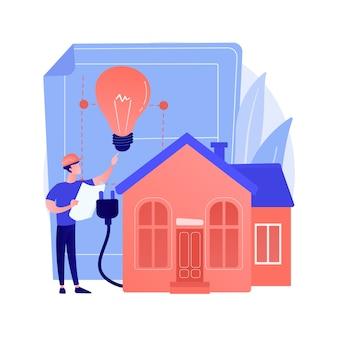Concepto abstracto de construcción eléctrica residencial