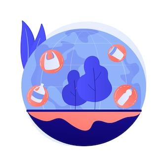 Concepto abstracto de contaminación del suelo