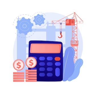 Concepto abstracto de costos de construcción
