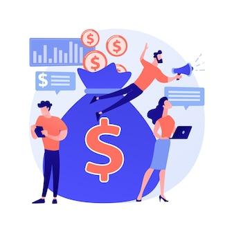 Concepto abstracto de crowdfunding