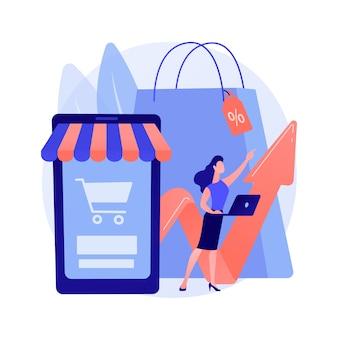 Concepto abstracto de demanda del consumidor