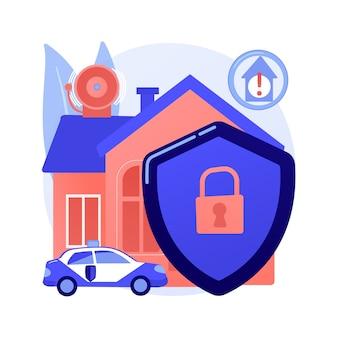 Concepto abstracto de diseño de sistemas de seguridad