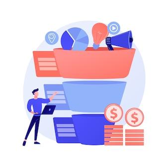 Concepto abstracto de gestión de canalización de ventas
