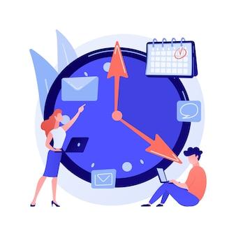 Concepto abstracto de gestión del tiempo
