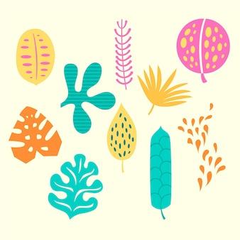 Concepto abstracto de hojas tropicales