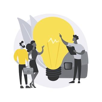 Concepto abstracto de incubadora de empresas