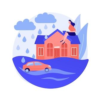 Concepto abstracto de inundación