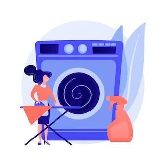 Concepto abstracto de lavandería y limpieza en seco